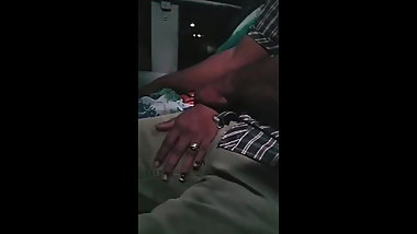 Tamil shy women strokes a strangers dick in crowded bus - 1