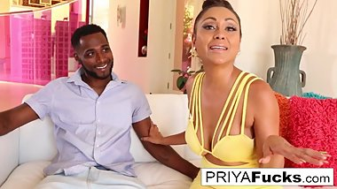 Indian MILF Priya Rai rides his BBC until he explodes