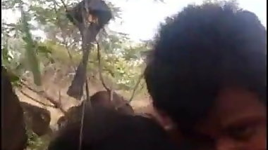 Telugu couple fucking in forest part 2