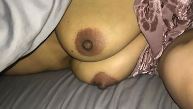 Indian Boobs and Nipple Play