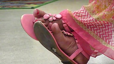 Pink Indian milf sandals