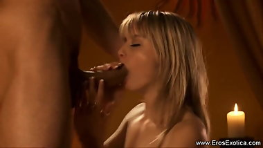 Interracial Blowjob From Sexy Blonde