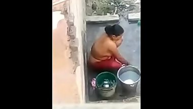 Indian aunty Having Shower