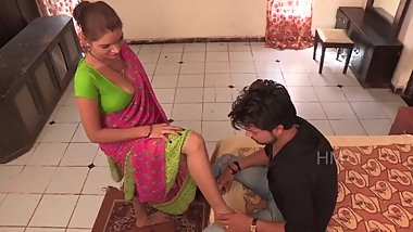 Indian housewife seduce a young boy