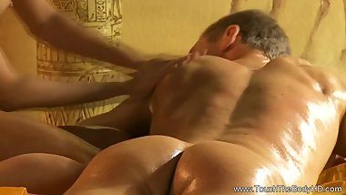 Handjob Blonde Is Expert Massage