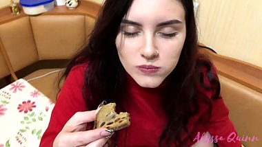 Alyssa Quinn Loves Indian CumCake and Eats Up all Cum with Happiness