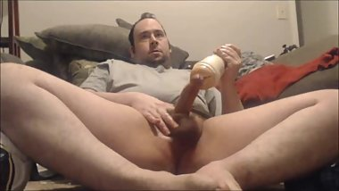 Indian Style Fleshlight Fuck With Fat Cock