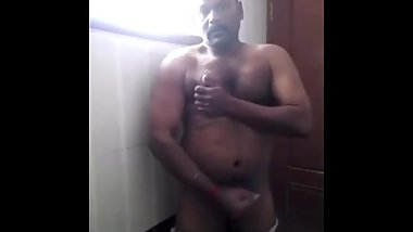 Hot indian daddy showing his ass and dick
