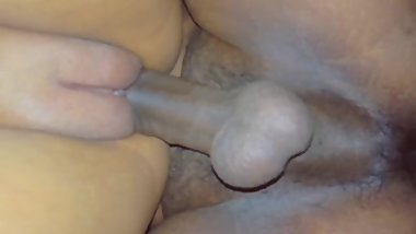 Close up Tight pussy gets creampied