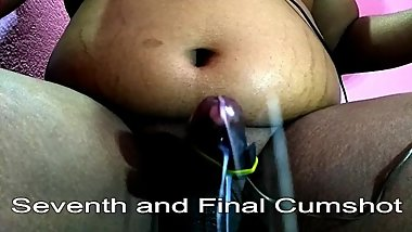 Indian Dick Dripping Precum and Multtiple Seven Times Handsfree Cumshot