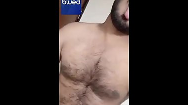 Handsome indian boy stripping on cam and playing with his nipples and cock