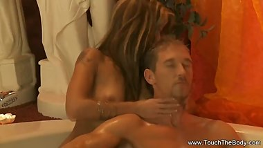 Bathe Massage Then Handjob