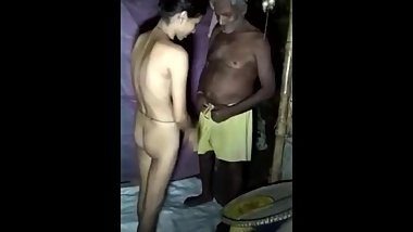 Young Indian girl sex with old man