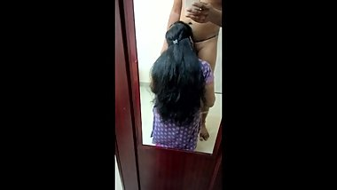 Indian Big Boobs Girl Sex In Front of Mirror