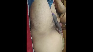 Jija saali hot Indian couple roleplay with dirty Hindi talk
