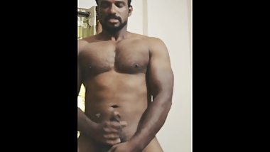 Hung Desi Indian muscle cum. Indian porn star charan bangaram masturbates