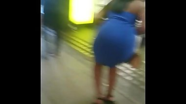 Candid Indian Desi Babe - Big Round Jiggly Butt Tight Dress