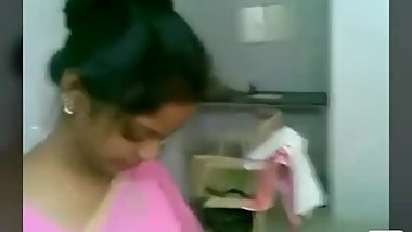 Pink saree girl fuck